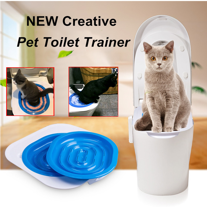 Practical Pet Cat Toilet Trainer Indoor Cat Mesh Litter Tray Cat Toilet  Seat Training Kit For Cats Puppy Pet Training Supply