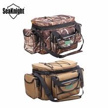 SeaKnight SK003 Waterproof Fishing Bag Large Capacity Multifunctional Lure Fishing Tackle Pack Outdoor Shoulder Bags 50*27*28cm