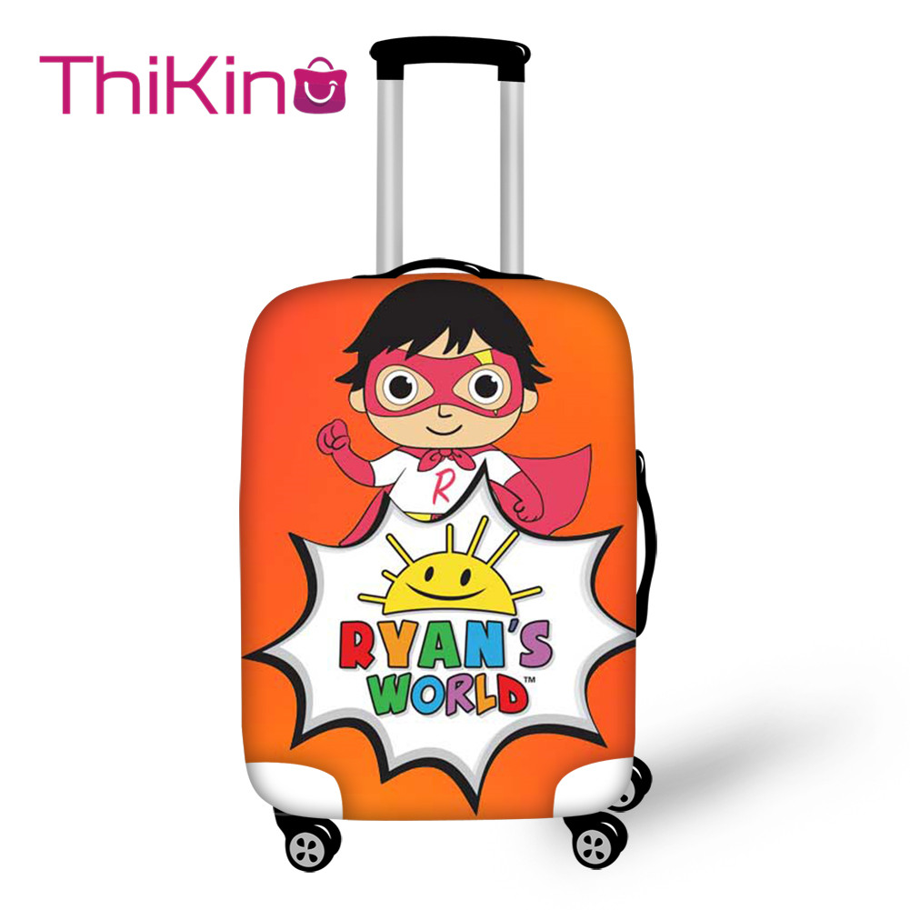 Thikin Ryan's World Travel Luggage Cover For Girls Cartoon School Trunk Suitcase Protective Cover Travel Bag Protector Jacket