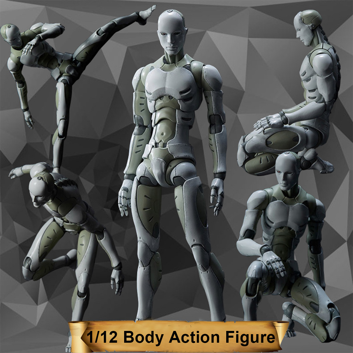 1/12 Synthetic Human Male Body Action Figure PVC Model Toys For Drawing Sketch Collectible Model Toy with box doub k action figure toys artist movable limbs male female 13cm joint body model mannequin bjd art sketch draw figures new style
