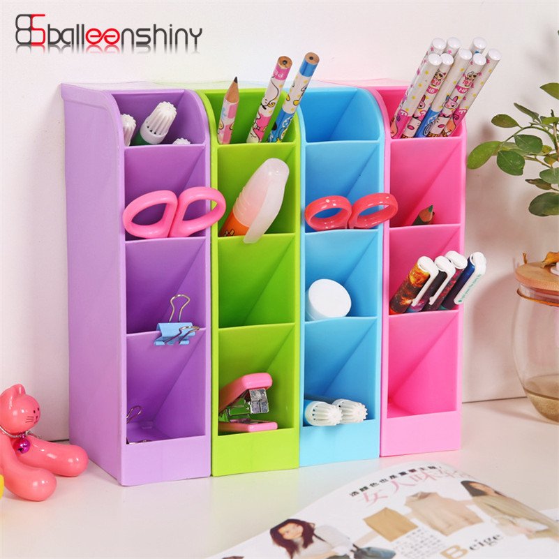 20.5*9.1*5.1cm Mini Storage Box Desk Sundries Stationery Tableware Organizer Cosmetics Makeup Container Bin Kitchen Tool