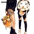 Excelsior buen regalo! 2016 Nueva Novedad Enorme Lujo Enfriar la Cabeza Del Tigre Blanco Cabeza de Tigre Estilo Bolsa Mochila mochila Bolsas Tigre G0294