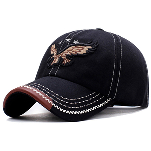 2019 New 3D Eagle Embroidery Baseball Cap Male Cap Hip Hop Flat Along Snapback Hats Baseball Cap Lovers Cap For Men & Women #30(China)