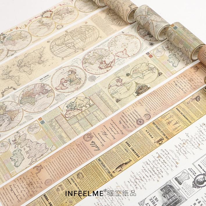 Retro Washi Tape Vintage Manuscript Divine Comedy DIY Decorative Scrapbooking Masking Tape Adhesive Washi Tape Set Label Sticker