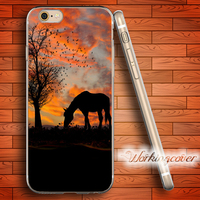 Fundas Wholesale Horse Soft Clear TPU Case For IPhone 7 6 6S Plus 5S SE 5