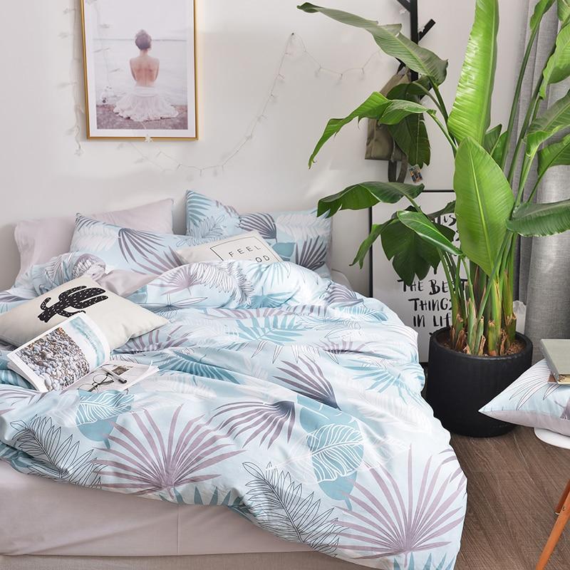 Plants print Bedding Sets Cotton Sheet Pillowcase Duvet cover set Queen Double Size Bedlinen Plants print Bedding Sets Cotton Sheet Pillowcase Duvet cover set Queen Double Size Bedlinen
