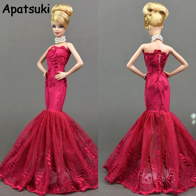 Mermaid Clothes For Barbie Fishtail Wedding Party Dress For Barbie Doll  Limited Collection Elegant Handmade Dresses Gift 8d24b7f9bc0c
