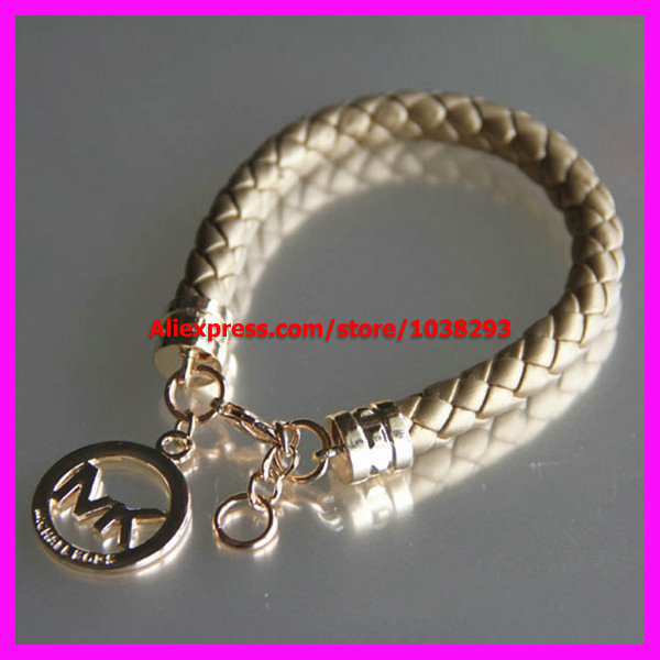 100% Famous Brand Name Wrap Bracelets & Bangles Jewelry PU Leather Rope Gold Chain Letter Charm Friendship gift - Factory store