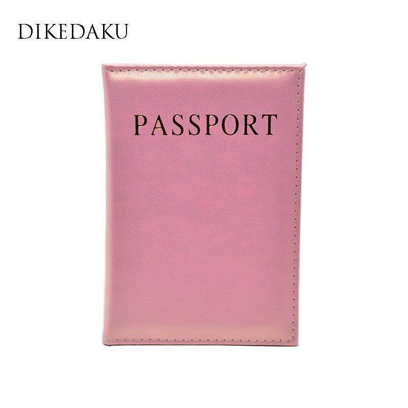DIKEDAKU Elegant Soft Leather Passport Cover Women Fashion Solid Lady Passport Holder Nice Candy Cute Passport Case For Passport