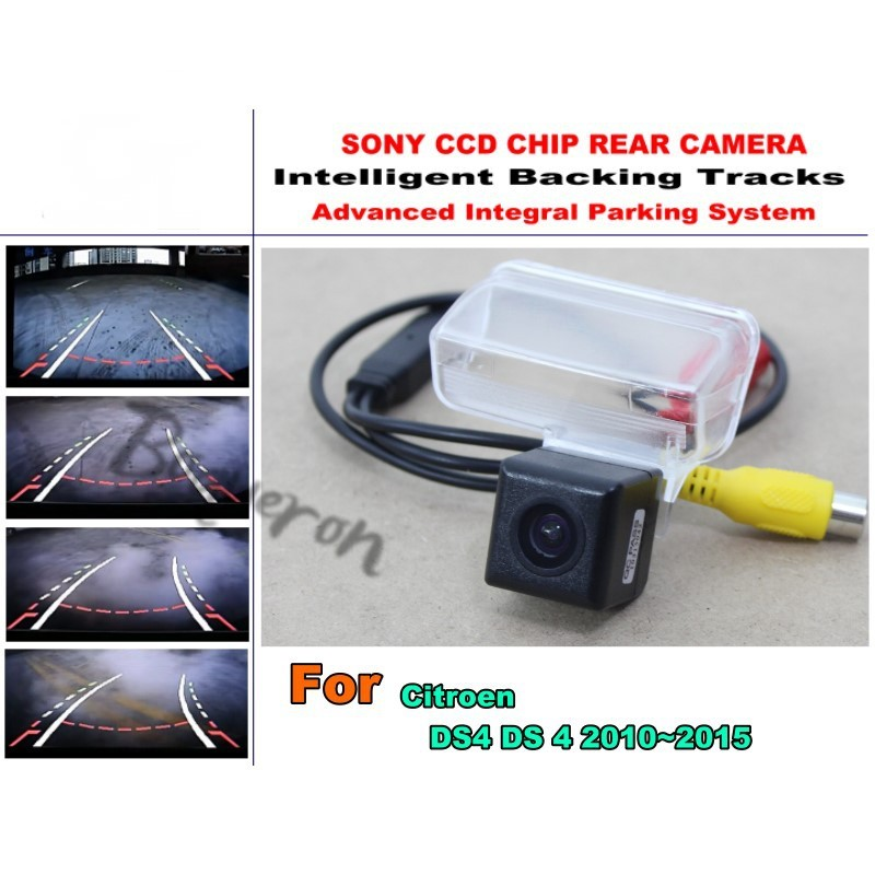 Smart Tracks Chip Camera / For Citroen DS4 DS 4 2010~2015 HD CCD Intelligent Dynamic Parking Car Rear View Camera