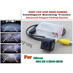 Smart Tracks Chip Camera / For Citroen DS4 DS 4 2010~2017 HD CCD Intelligent Dynamic Parking Car Rear View Camera