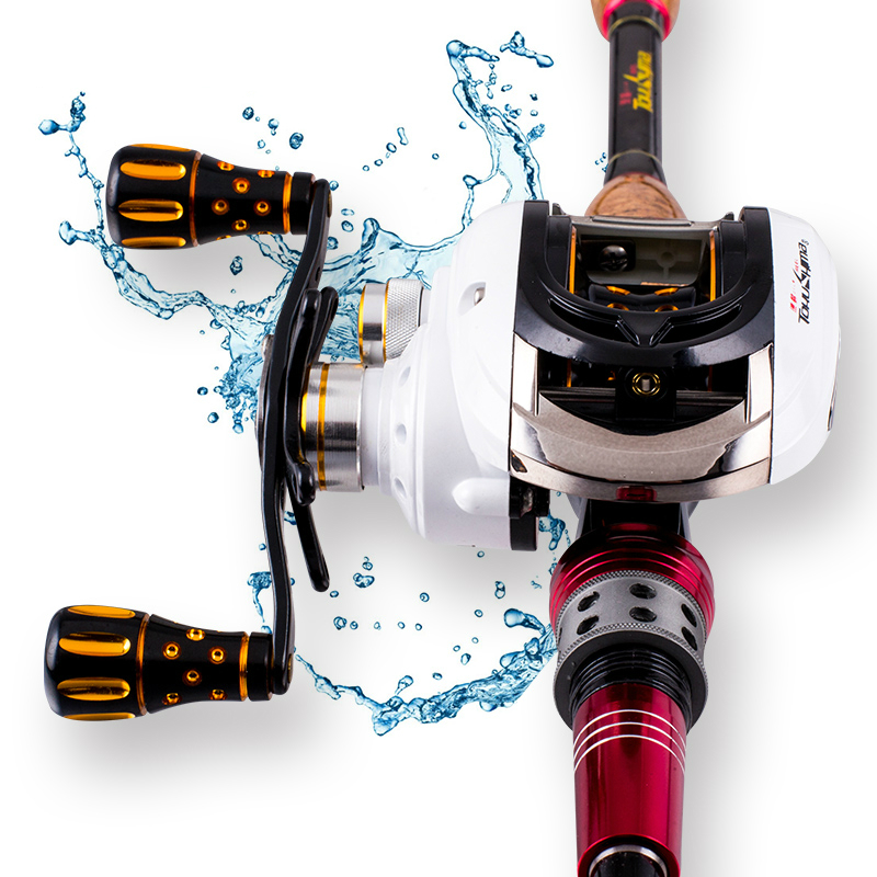 6.2:1 High Gear Ratio Baitcast Wheel 12+1BB Bait Casting Fishing Reel for Right Hand Lure Rod Wheel Metal FishWire Cup Raft Reel yumoshi 12 1bb left right hand halleluyah wheel fishing reel metal wire cup speed ratio 6 2 1 centrifugal magnetic brake