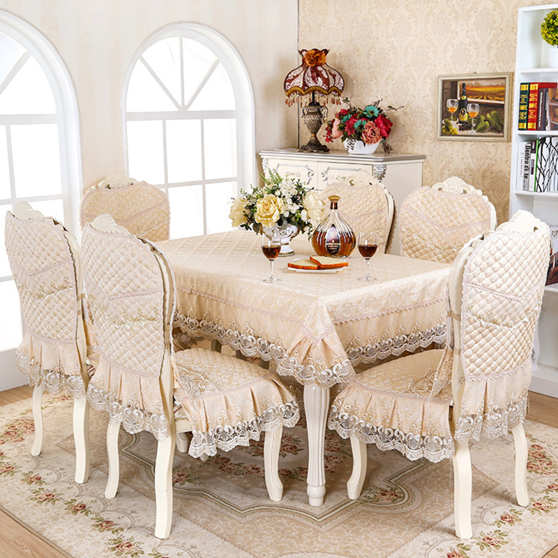 Europe Luxury Table Cloth Embroidered Floral Tablecloths Elegant Lace Cover Home Party Wedding Decoration Toalha