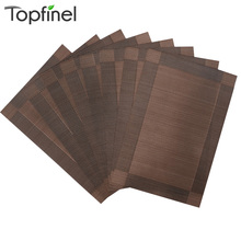 Top Finel Set of 8 PVC Decorative Placemats for Dining Table Runner Linen Place Mat in Kitchen Accessories Cup Mat Coaster Pad