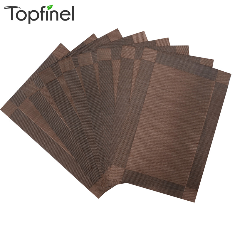 Top Finel Set Of 8 PVC Decorative Placemats For Dining Table Runner Linen Place Mat In