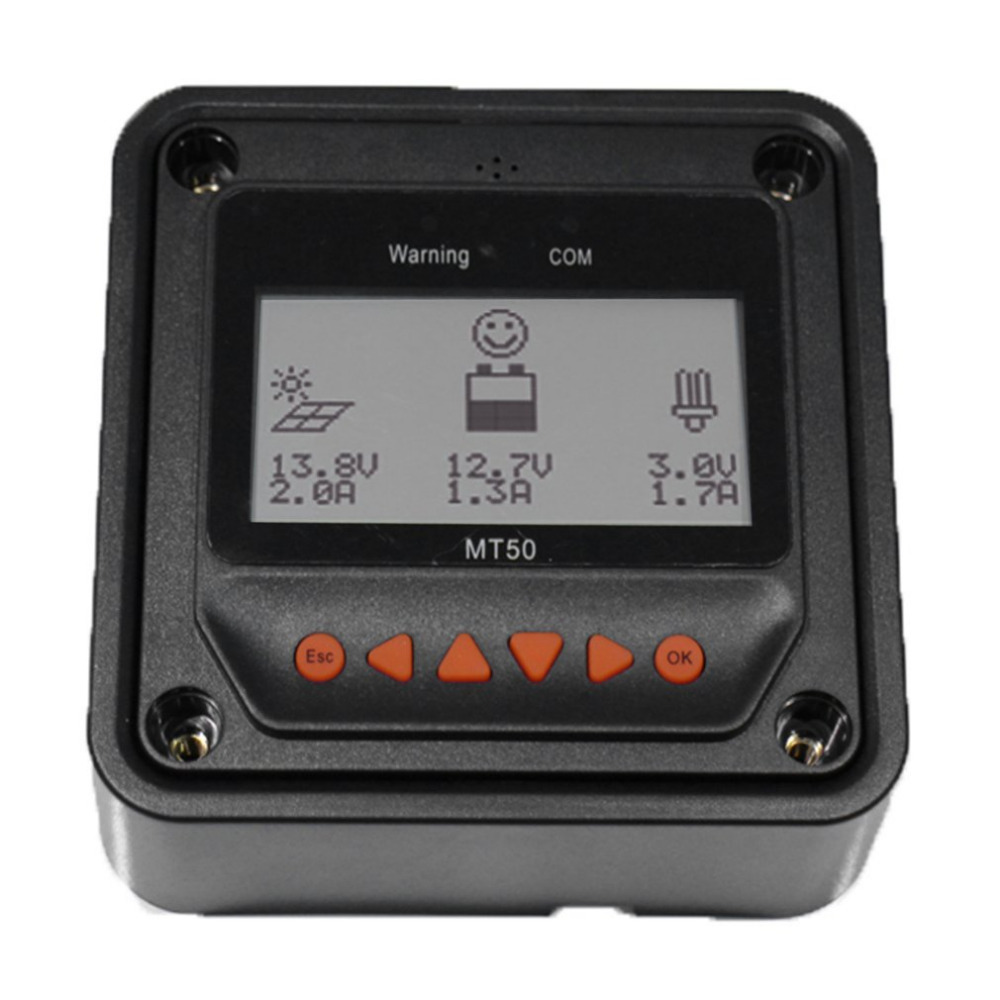 MT-50 Remote Meter LCD Display Device For Landstar Viewstar Tracer Solar Charge Controller Black MPPT Tracer With Backlight
