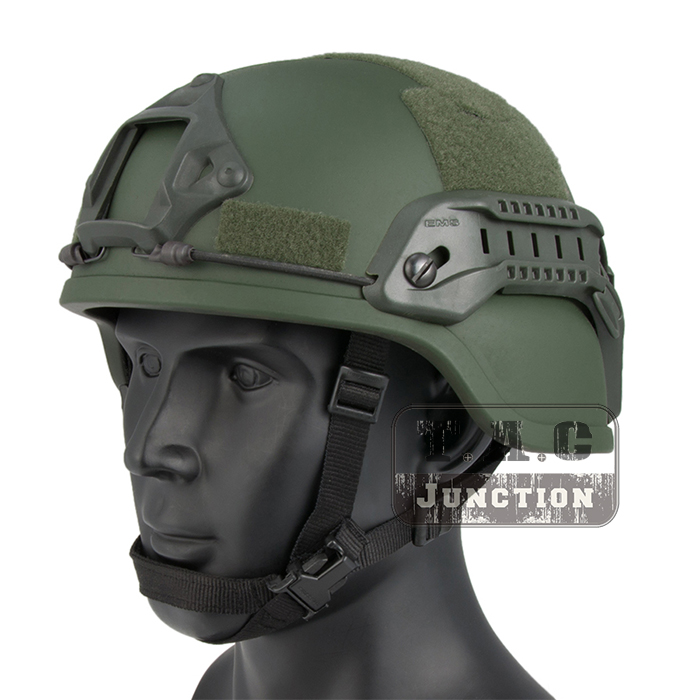 Emerson Tactical ACH ARC MICH 2000 TC-2000 Helmet Advanced EmersonGear Head Protective with NVG Shroud & Side Rail