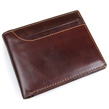 New Men RFID Blocking Leather Credit Card Holder Trifold Wallet with Back Pocket  R-8104Q цена