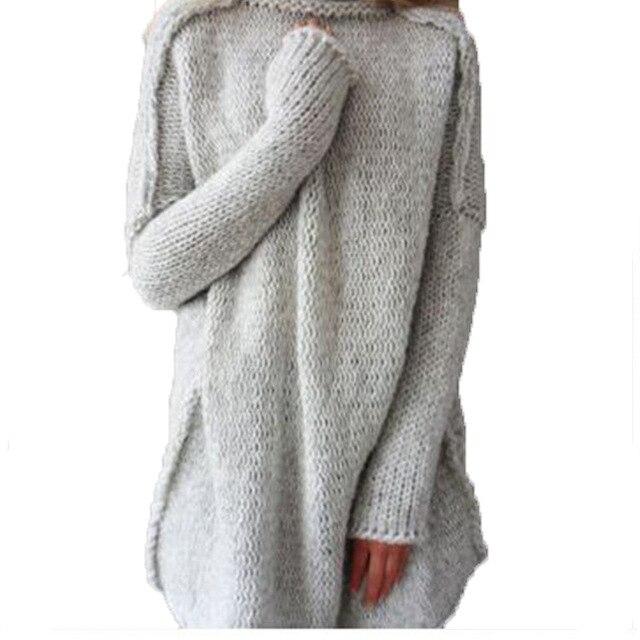 Favoloso Oversize in Cashmere Maglione di Lana Donne Lungo Caldo Maglione  JJ27
