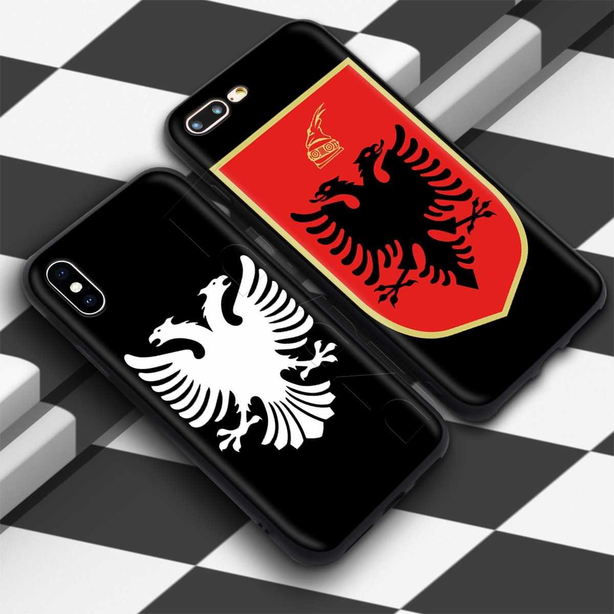 Lavaza rétro Al albanie drapeau aigle étui pour iphone 11 Pro XS Max XR X 8 7 6 6S Plus 5 5s se