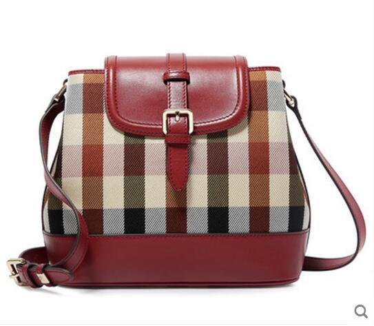 High Quality Women's Handbag Damier Polyester Fiber Sing Shoulder Bag Bucket Bag Fashion Tote Female Bags Laptop Teenage Girl струйный картридж brother lc1240c голубой для mfc j6510 6910dw