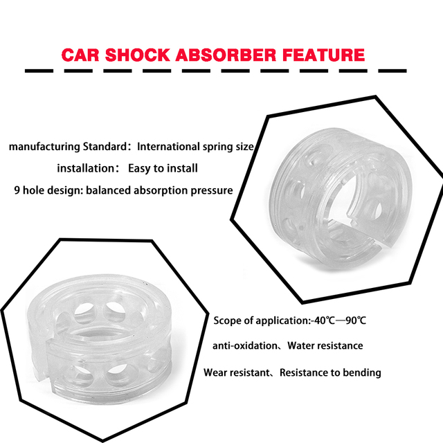 TPUAMT 1PCS Car Shock Absorber Power Auto-Buffers Spring Bumpers A/B/C/D/E/F Type Universal For Cars Cushion Suspension Buffers