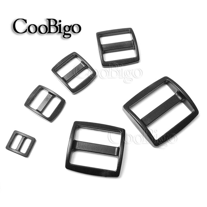 10 Stks Pack Plastic Gebogen Tri Glide 10/16/20/25/32/38mm Slider Pas Gespen Bredere Style Backpack Webbing Zakken Onderdelen