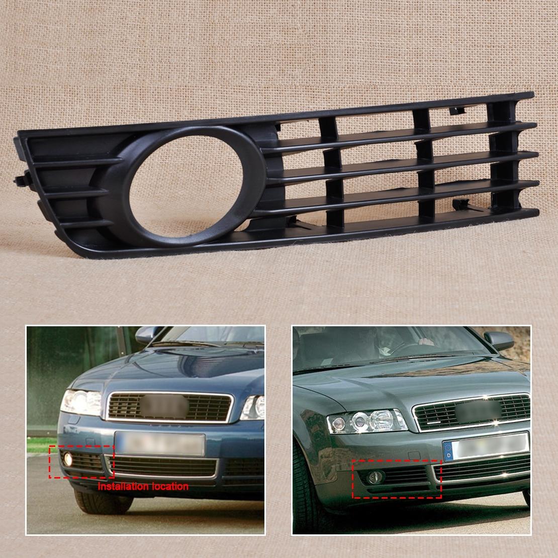 For 2002-2005 Audi A4 B6 Front Left Bumper Fog Light Right Grille cover Mesh