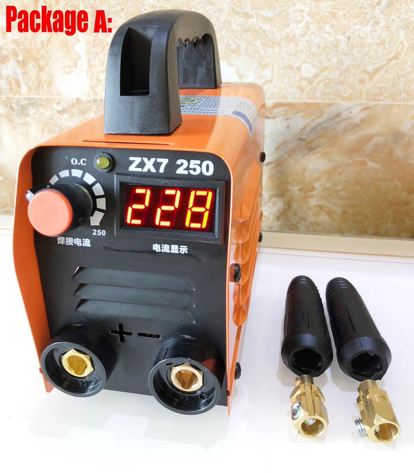 ZX7-250 Mini Schweißen Maschine ARC Schweißer 220V MMA Schweißen inverter Schweißen Halbautomatische Gerät