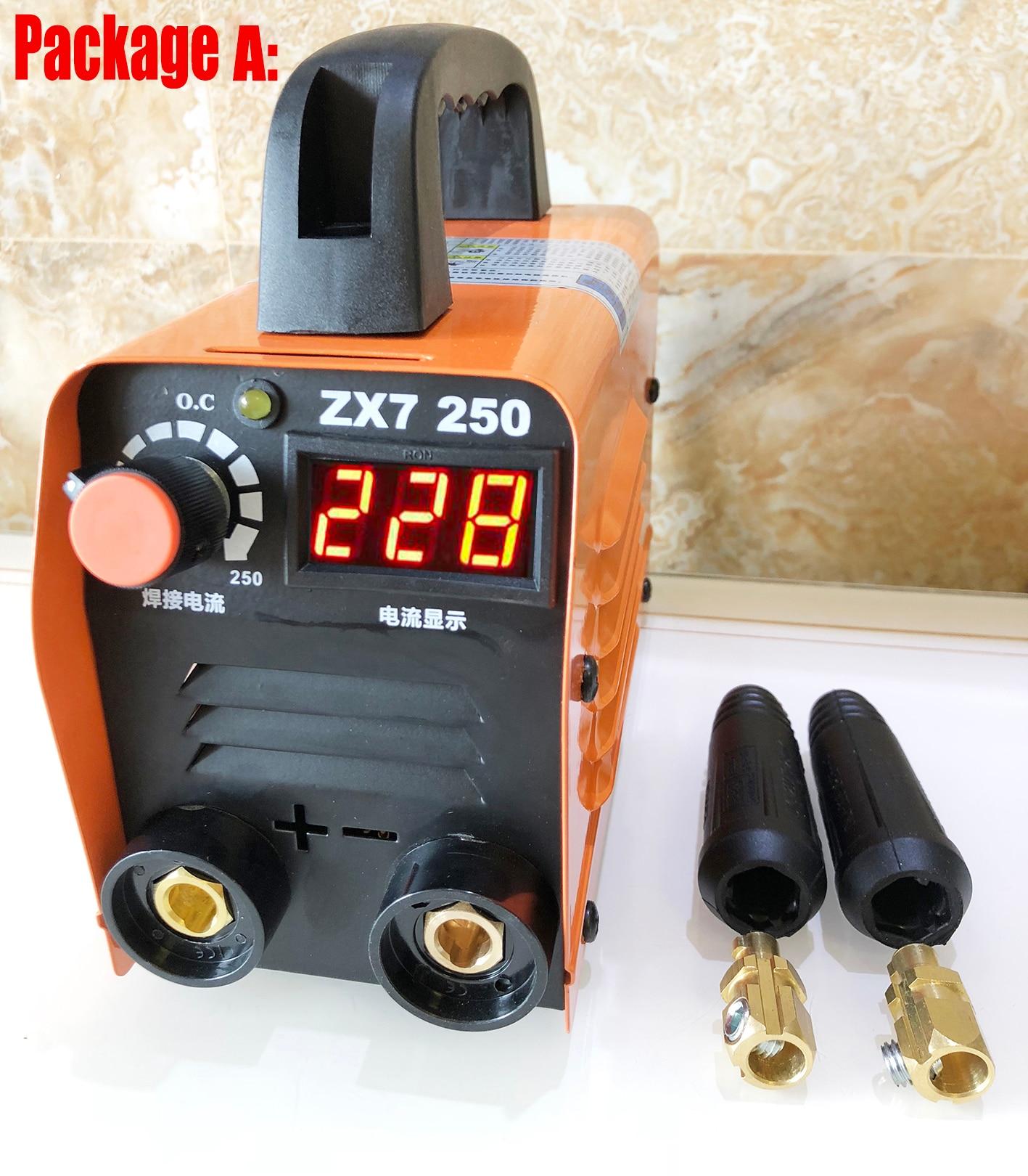 ZX7-250 Mini Welding Machine ARC Welder 220V MMA Welding Inverter Welding Semiautomatic Device