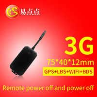 Novo mini 3g rede GSM dispositivo de rastreamento de veículos rastreador GPS para carro e moto 710C online remoto de controle de óleo corte e poder