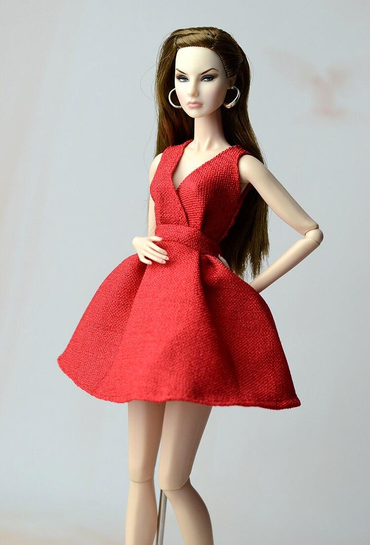 Новый 30 см модные одежды куклы аксессуары FR Кукла вечернее платье классический небольшой платье юбка для куклы Барби