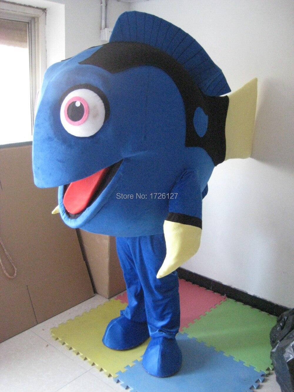 Blue Fish Mascot Custom Fancy Costume Anime Cosplay