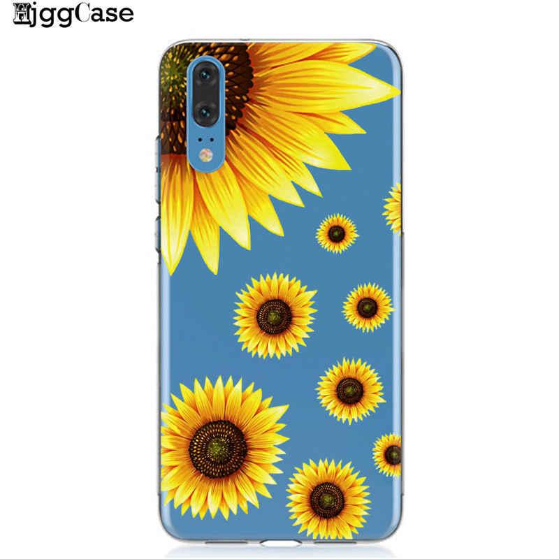 Musim Panas Daisy Bunga Matahari Bunga Bunga Phone Case Coque untuk Huawei P20 P10 P30 Mate 10 20 Lite Pro Honor 9 10 Lite 8X 8C Y9 2019