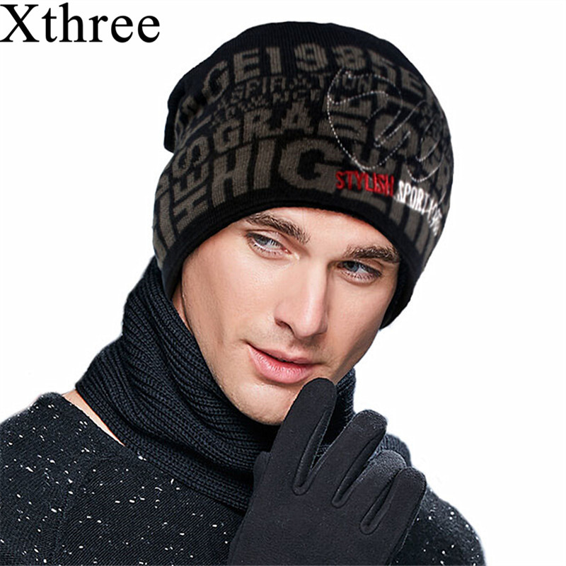 Xthree Winter Hats Beanies Skullies Bonnet-Caps Knitted Warm Women Baggy-Brand Fur Solid