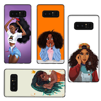 African Beauty girl Soft TPU Phone Case for Galaxy M10 M20 M30 S6 S7 Edge S8 S9 S10 S10e Plus Note 10 8 9 1