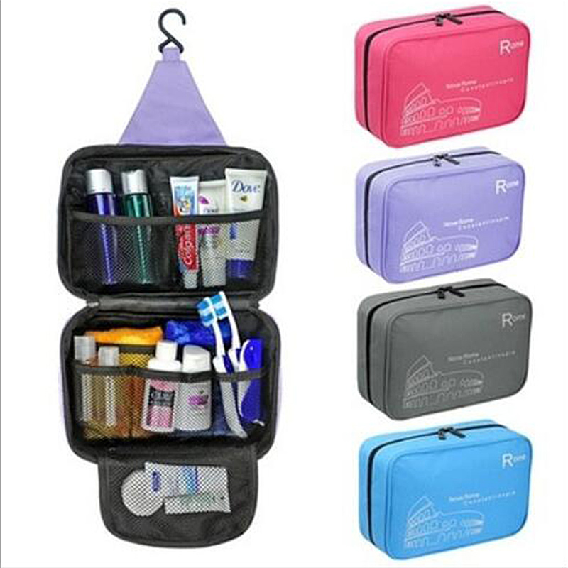 Appeso degli Uomini delle Donne Sacchetto Cosmetico di Trucco Custodie Del Sacchetto Toilette Dell'organizzatore di Immagazzinaggio Viaggio Necessarie Accessori Forniture di Prodotti