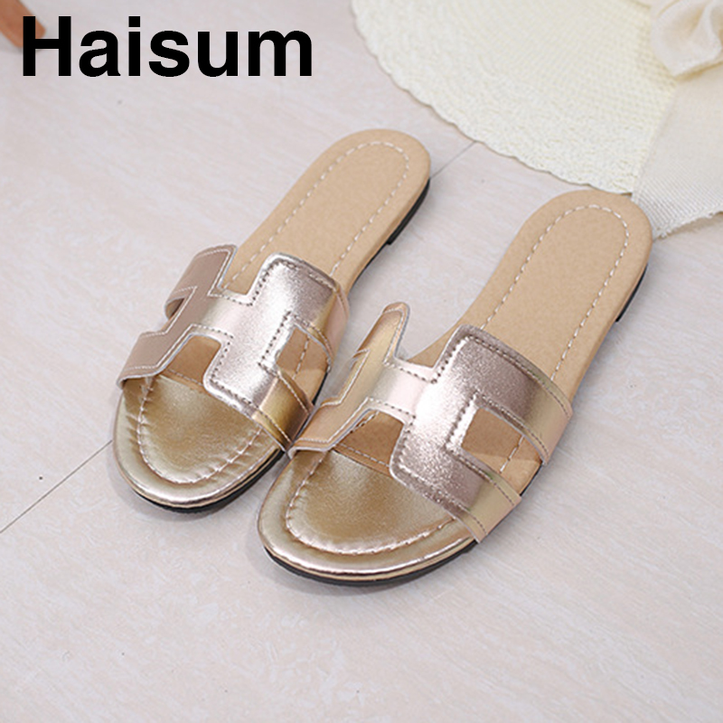 2018 summer with a word flip sandals women's flat sandals L02 купить