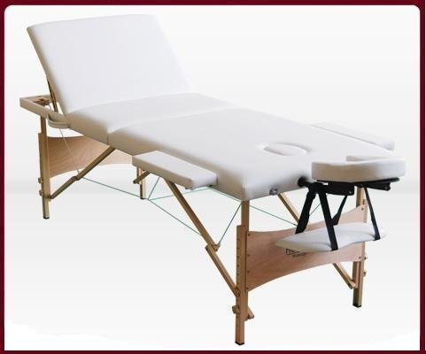 Special Offer!!! Stock in UK Healthline 3 Fold Spa Portable Massage Table Bed White 21W3H-01M-White