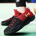 Спорт Корзина Обувь Для Мужчин Повседневная Сетки Дышащий Марка Прогулки Обувь Летать Плетение Мужские Суперзвезда Тренеры Zapatillas Хомбре Красный 45