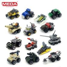 MEOA Mini Car Building Blocks Duplo Gi Joe Kompatible Legoinglys Militære Teglsten Lepin Technic Kid Undervisningslegetøj til Børn