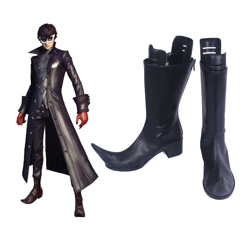 Cosroad Persona 5 Joker Kurusu Akira Cosplay Shoes Boots Halloween Carnival Party Costume Accessories Boots