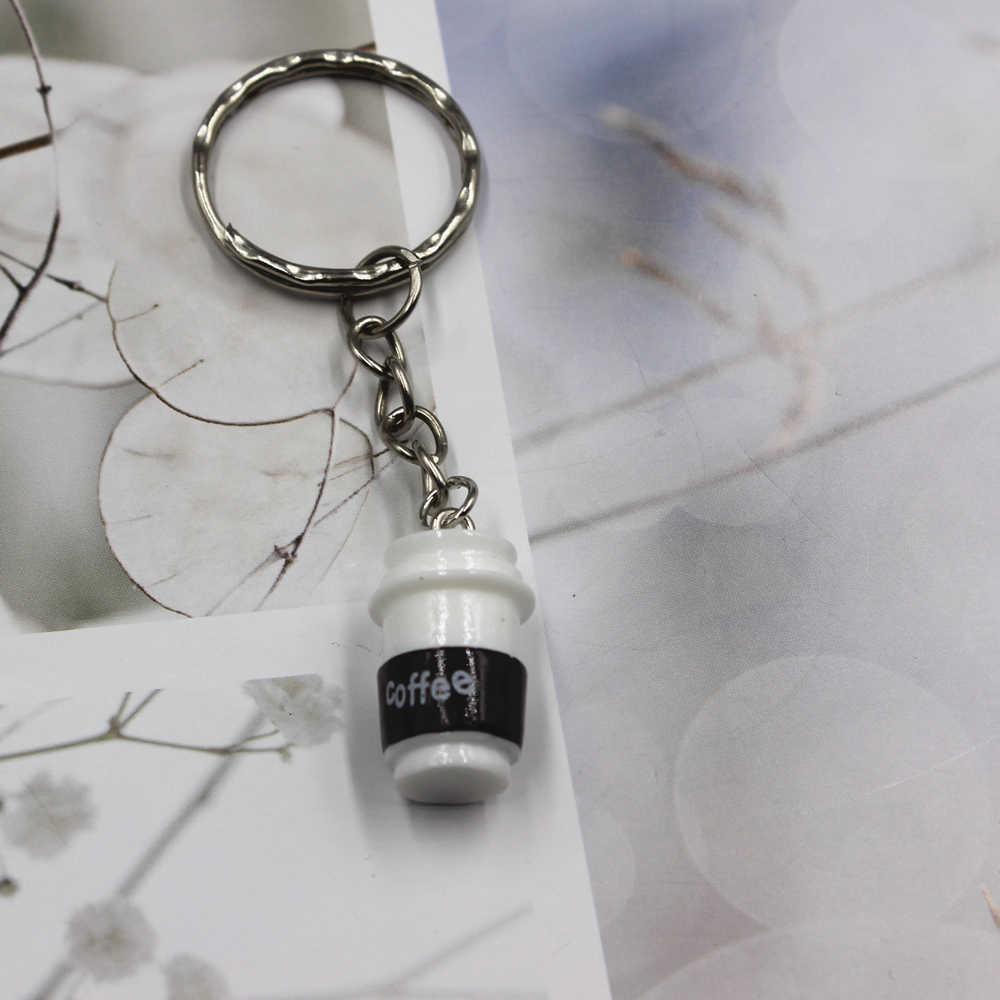 حار بيع فنجان القهوة المفاتيح الذكور سيارة كيرينغ المعادن السيارات مفتاح حامل هدية للرجال