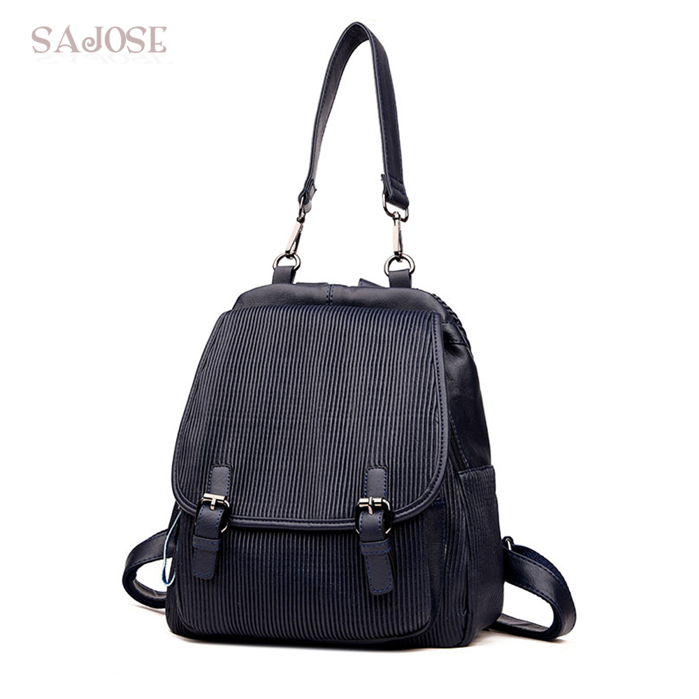 Women Leather backpack High Quality Fashion Cansual School Shoulder Bag Designers Multifunction Lady Student bag DropShipping sunny shop new flower women drawstring backpack fashion school lady casual print backpack high quality pu leather school bag