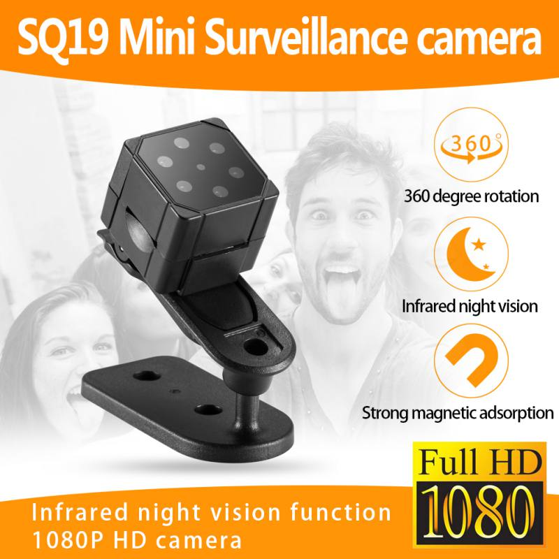 Mini Camera SQ19 HD 1080P Sensor Night Vision Camcorder DVR DV Motion Recorder Camcorder Support 32GB TF Card Micro Video Camera eyewear sunglasses camera support tf card music video recorder dvr dv mp3 camcorder music glasses with earphone