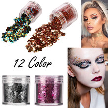 New 12 Colors Shimmer Loose Sequins Powder Face Body