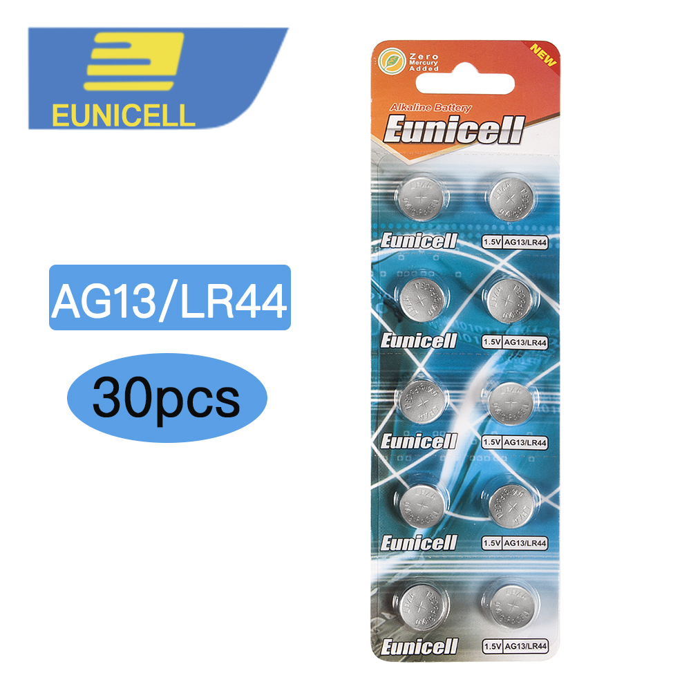 30pcs/lot 1.5V AG13 Battery LR44 L1154 RW82 RW42 SR1154 SP76 A76 357A <font><b>pila</b></font> lr44 SR44 <font><b>AG</b></font> <font><b>13</b></font> Alkaline Button Cell Coin Battery image