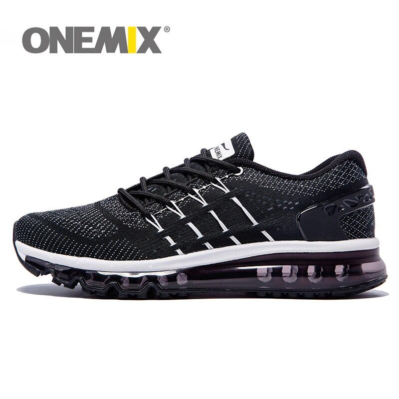 ONEMIX unisexe Unique chaussures langue chaussures de course hommes respirant Air mesh Sport baskets femme athlétique plein Air baskets
