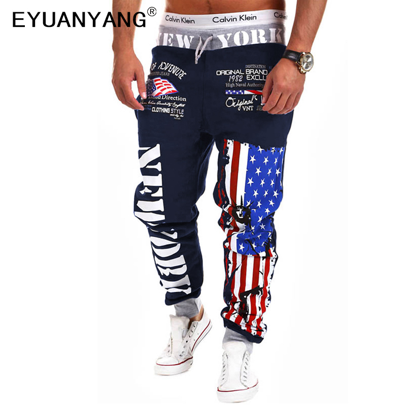 EYUANYANG Men Trousers Jogger-Pants Wear Harem Hip-Hop Male Letter Outdoors
