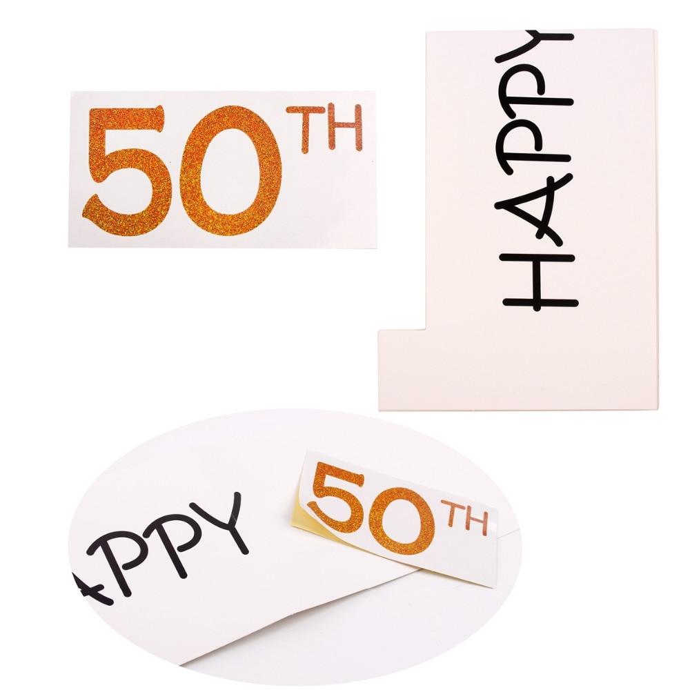 Fengrise Feliz cumpleaños 30th 40th Photo Booth props 30 40 50 años ...